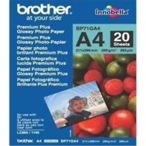 Brother Papier BP-71GA4 A4 Foto 20 Blatt - Foto-Papier