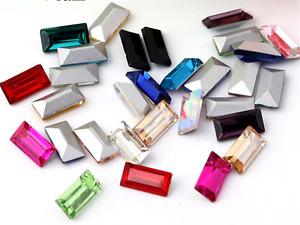 50p 5*105*15mm strip rectangle nail art rhinestone crystal gem cut glass craft