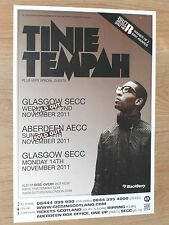 Tinie Tempah - Glasgow/Aberdeen nov.2011 tour concert gig poster