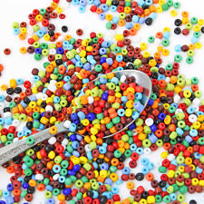 Glass Seed Beads 6/0 Mixed Assorted Colors Opaque 4mm - 50g - 650 beads - BD1312