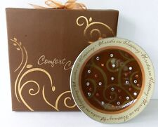 """Pavilion Gifts PLATE/CANDLE HOLDER  """"MIRACLES ARE HAPPENING"""" #05793"""
