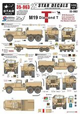 Star Decals 1/35 M19 Diamond tank transporter (pt1) Middle East /N Africa 35963