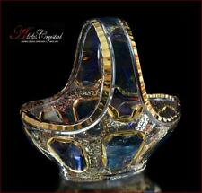 "Bohemian Crystal Candy bowl 21 cm, ""Versal"" Blue, New!"