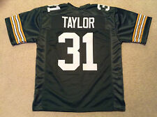 UNSIGNED CUSTOM Sewn Stitched Jim Taylor Green Jersey - Extra Large