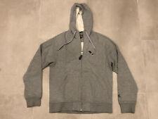 Nickelson Logo Size M Medium Men's Hoodie/Grey Marl Zip Up Hooded