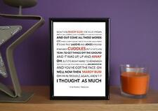 Framed - Arctic Monkeys - Mardy Bum - Poster Art Print - 5x7 Inches
