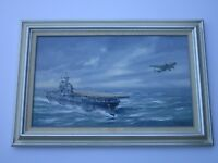 DOUGLAS ETTRIDGE PAINTING AMERICAN AVIATION PLANE NAUTICAL DESTINATION TOKYO