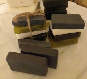 Activated charcoal & Kaolin Clay geranium rose dough soap (buy 3 get 1free