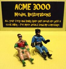 Corgi 267 Batmobile & 107 Batboat Replacement Repro Pair Batman & Robin Figures