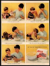 1956 JELLO Instant Pudding - Busy Day Dessert - 2 Brothers Cooking VINTAGE AD