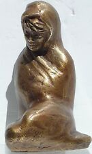Small Decorative Metal Cast? Sculpture of a Young Woman Signed
