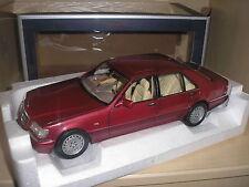 Mercedes Benz S500 1997 rot metallic in 1:18 von Norev