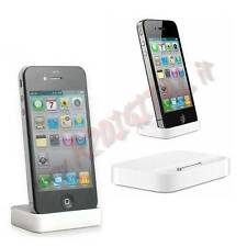 DOCKING STATION compatibile per APPLE IPHONE 4 4G 4S IPOD DOCK CARICA DA TAVOLO