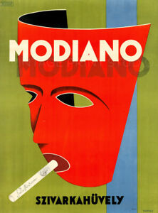 Rolling Paper Modiano 1929 Italian Smoking Advertising Giclee Canvas Print 20x27