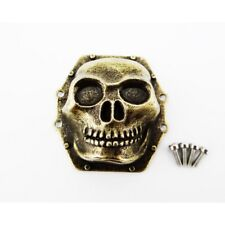Hot Racing Axial SMT10 Antique Gold Metal Skull Diff Cover WRA12CT14