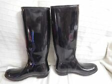 B-114 Hunter Boot Original Tall Glossy Rain Boot, Black  Sz 10 US $150.00