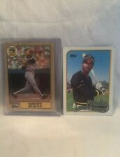 Collectible 1987 & 89 Topps Barry Bonds Pittsburgh Pirates Cards #'s 320 & 620