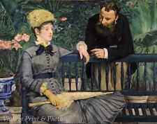The Winter Garden by Edouard Manet  - Art Man Woman Bench Talk 8x10 Print 0742