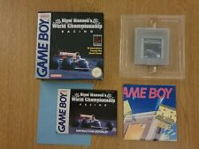 Nigel Mansell's world championship racing boxed mint Nintendo gameboy