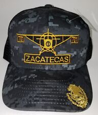 EL AVION DEL CHAPO ZACATECAS  MEXICO  701 HAT 2 LOGOS DIGITAL HAT GRAY BLACK