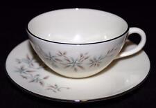 Lenox WYNDCREST Retro Mid Century Modern 1956-77 Blue Flowers - Cup & Saucer Set