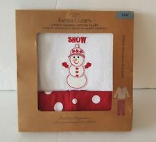 Cotton Xmas Pajamas PJ Set 24M Polka Dot New Red White Snowman Short Sleeve