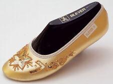 Rarität Sonderanf Bleyer Bauch Tanz Schuhe Schläppchen gold oder silber 46 NEU
