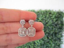 .70 Carat Total Weight Diamond White Gold Dangling Earrings 14k sep