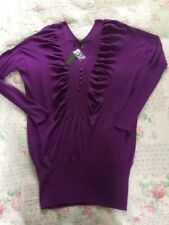 BNWT Heavenly Soft FULL CIRCLE jumper Dress With Cashmere-size  16/18 Purple
