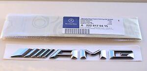 New AMG Badge Emblem( 2014-on) fits Mercedes Benz C E S CL CLK CLS R G SL Class