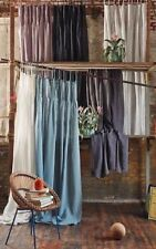 Anthropologie Pinch-Pleat Curtain - Single Panel -  Blue - 50 x 88 inches