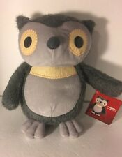 """Aesops Fables Owl plush  KOHLS CARES Gray 10"""" Tall New with tag"""
