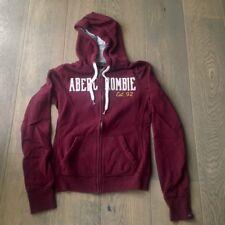$68 ABERCROMBIE & FiTCH Jordan BURGUNDY Sweatshirt Hoodie - Small