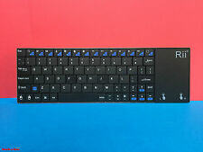Rii K12 Mini Ultra Slim Funk Tastatur mit Touchpad Wireless Keyboard UK QWERTY
