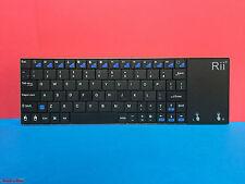 Rii K12 Mini Ultra Slim Funk Tastatur mit Touchpad Wireless Keyboard UK QWERTY