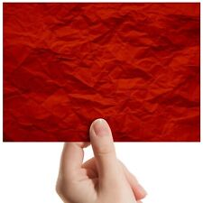 "Crumpled Red Paper Gift Wrap Small Photograph 6""x4"" Art Print Photo Gift #14629"