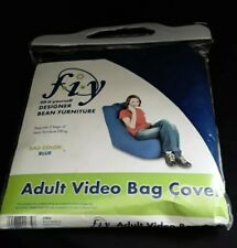 Adult Bean Bag It Video Bag Chair U-Fill Bean Bag System (Cover only) - Blue