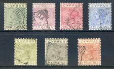 Cyprus Queen Victoria 1882-6 die 1 set of 7 fine used (2017/06/12/#11)