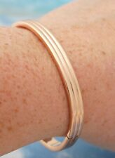 6mm Oval Snug Fit Bangle Bracelet Rose Gold Filled Jewelry 7inch ~ Opens