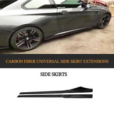 2PCS Universal Carbon Fiber Side Skirts Extension For BMW E90 E92 E93 M3 205CM