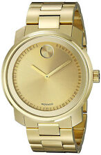 Movado 3600258 Bold Champagne Dial Gold Plated Stainless Steel Men's Watch