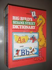 8 Vol Set Big Birds Sesame Street Dictionary by Linda Hayward Joe Mathieu Illus