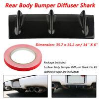 "Rear Bumper Lip Chassis Diffuser Spoiler 3 Fin Shark Fin Style Gloss 14"" x 6"""