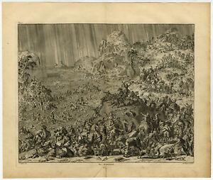 Antique Print-DELUGE-BIBLE-GENESIS-ARK-NOAH-Luyken-1732