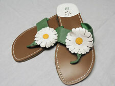 Women's Gap Daisy Thong Sandals Size 5 Green, White, & Yellow EUC #193097