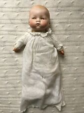 13� Antique Am Germany Bisque Head Cloth Body Dream Baby Celluloid Hands Bin