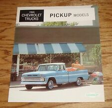 Original 1965 Chevrolet Truck Pickup Sales Brochure 65 Chevy