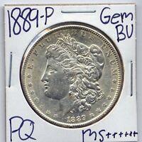 1889-P Morgan Dollar Uncirculated US Mint Gem PQ Silver Coin BU Unc MS++++++