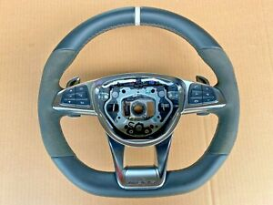 Mercedes Benz C63S AMG W205 2017 Alcantara Steering Wheel + Controls A2054602603