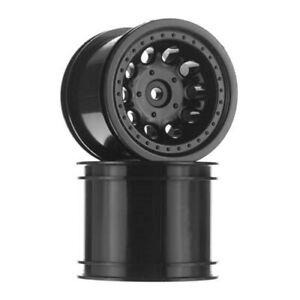 New RPM Traxxas Rustler Stampede 2wd Revolver Black Rear Wheels 82052